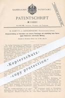 Original Patent - H. Schütt , Gleschendorf , Lübeck , 1899 , Bremse Für Fahrrad U. A. Fahrzeuge | Bremsen , Fahrräder ! - Documenti Storici