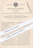 Original Patent - J. J. Keller , Marle , Aisne , Frankreich , 1897 , Abziehen Der Spule Vom Spulendorn An Spulmaschine ! - Documenti Storici