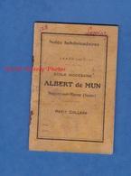 Carnet De Notes Ancien - NOGENT Sur MARNE - Ecole Diocésaine ALBERT De MUN - Petit Collège - 1943 / 1944 - Lassiaz - Documenti Storici
