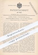 Original Patent - Ludwig Fuchs , Schönpriesen / Böhmen , 1893 , Gegenstrom - Wende - Osmogen - Filter | Filtern !! - Documenti Storici