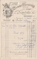 "Petite Facture 1933 / L. GANDELIN / ""La Nozerette"" Huile Chasse Mouche / 39 Nozeroy Jura - Francia"