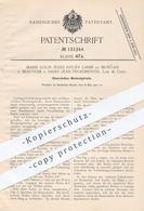 Original Patent - Marie Louis Jules Roger Labbé De Montais , Beauvoir B. Saint Jean Froidmentel , Loir & Cher | Getriebe - Documenti Storici