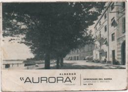 Desenzano Del Garda (Brescia): Albergo Aurora. Viaggiata 1955 - Alberghi & Ristoranti