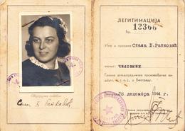 ZADRUGA BEOGRAD SERBIA 1944 - Documenti Storici
