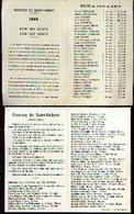 (SAINT-HUBERT) Listes Des Défunts Du 1/11/1948 Au 1/11/1949 + 1/11/1963 Au 1/11/1964 - Images Religieuses