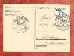 Karte, EF Eisschnelllaeufer, SoSt Gordon-Bennett Ausscheidungs-Fahrt Ballon Chemnitz-Suedkampfbahn, Nach ? 1937 (54399) - Covers & Documents