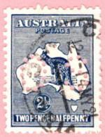 "AUS SC #OB46 U 1915 Official / 2 1/2p Small ""OS"" WMK 10 W/short Perf @ LR CV $16.00 - Perfin"