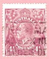 """AUS SC #OB74 U 1926 Official / 4 1/2p Small """"OS"""" WMK 203 CV $45.00 - Perfins"""