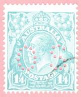 """AUS SC #OB76 U 1926 Official / 1sh 4p Small """"OS"""" WMK 203 CV $32.50 - Perfins"""