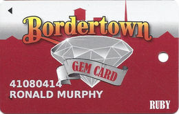 Bordertown Casino - West Seneca, OK - 8th Issue Slot Card - 6 Lines Text Reverse Paragraph - Cartes De Casino
