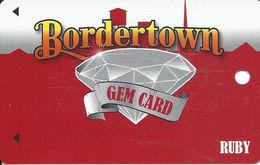 Bordertown Casino - West Seneca, OK - 10th Issue Slot Card - 8 Lines Text Reverse Paragraph - Cartes De Casino