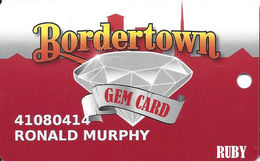 Bordertown Casino - West Seneca, OK - 11th Issue Slot Card - Ext. 307 In Phone# - Casino Cards