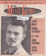 DAVID BOWIE COVER MUSIC GUIDE SONIC YOUTH ISSUE 17 11/1995 USA RARE - Magazines & Newspapers