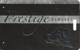 Buffalo Run Casino - Miami, OK - BLANK Prestige Slot Card - Cartes De Casino