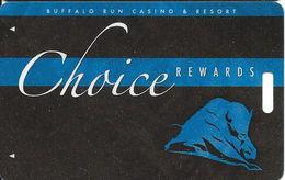 Buffalo Run Casino - Miami, OK - BLANK Choice Slot Card - Cartes De Casino