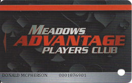 Meadows Casino - Washington, PA USA - Slot Card - Casino Cards
