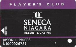 Seneca Niagara Casino - Niagara Falls, NY - Slot Card - PG Over Mag Stripe / Reverse Text Aligned Left & Right - Cartes De Casino
