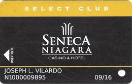 Seneca Niagara Casino - Niagara Falls, NY - Slot Card - PG Over Mag Stripe / Reverse Text Aligned Left & Right - Casino Cards