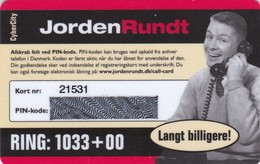 Denmark, Cyber City, Jorden Rundt, Very Old Mint Card, 2 Scans. - Dänemark