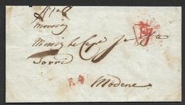 1807 LAC  Paris A Modena, Italie - 1801-1848: Précurseurs XIX