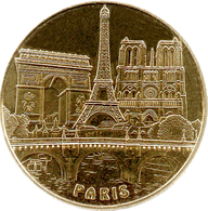75015 PARIS NOTRE DAME PONT TOUR EIFFEL ARC DE TRIOMPHE MÉDAILLE MONNAIE DE PARIS 2018 JETON TOKEN MEDALS COINS - Monnaie De Paris