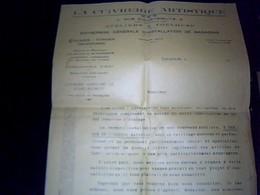 Facture Lettre A Entete La Cuivrerie  Artistique  Etalage Vitrines Devantures   Toulouse  Annee  19? - Francia