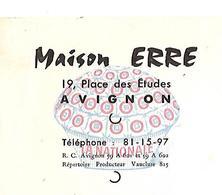 Traite 1963 / Vaucluse / AVIGNON / Maison ERRE - Francia