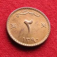 Oman 2 Baisa 1970 / 1390 KM# 36  Muscat & Oman Omã Mascate - Oman