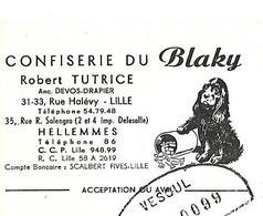 Traite 1963 / NORD / LILLE / Confiserie Du BLAKY - Francia