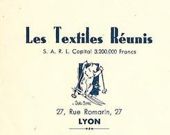 Traite 1952 / RHONE / LYON / Les Textiles Réunis - Francia
