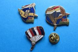 Lot De 3 Pin's, Parachutisme,Fallschirmspringen - Parachutting