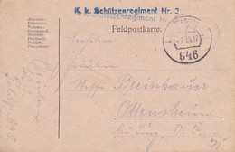 Feldpostkarte Schützenregimant Nr. 2 - 1917 (35679) - Briefe U. Dokumente