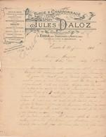 Facture 1905 / Jules DALOZ / Forge Charronnage / Essia Par Dompierre Sur Monts / 39 Jura - Francia