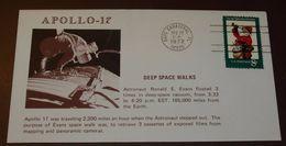 Cover Brief Space, Weltraum Apollo 17   1972     #cover3642 - Etats-Unis