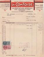 Facture 1950 / La Comtoise / Alimentation / Vins Spiritueux / Av Carnot / 25 Besançon - Francia