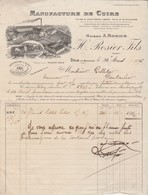 Facture 1926 / H. ROSIER / Manufacture Cuir /39 Dôle Jura - Francia