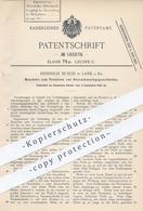 Original Patent - Heinrich Busch , Lank / Rhein / Düsseldorf , Verzieren Von Haarschmuck | Haarspange , Haare , Friseur - Documenti Storici