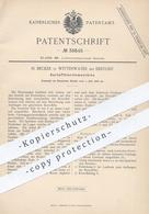 Original Patent - H. Becker , Wittenwater / Ebstorf / Uelzen , 1886 , Kartoffelerntemaschine | Kartoffel - Erntemaschine - Documenti Storici