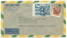 Brazil 1940's Airmail Cover São Paulo To U.S. W/ Scott 631 Peace - Brazil