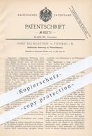 Original Patent - Josef Baumgartner , Pilnikau / Prag , 1894 , Elektrische Sicherung Am Türschloss | Schlosser , Schloss - Documenti Storici