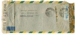 Brazil 1943 Airmail / Censor Cover São Paulo To U.S. W/ 5000r. Marshal Peixoto - Brazil