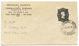 Brazil 1946 Cover São Paulo To Kent OH W/ Scott 642 Princess Isabel D'Orleans-Baraganca - Brazil