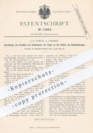 Original Patent - J. A. Pyritz , Gnesen / Polen , 1880 , Schutz An Eisenbahn - Tür | Eisenbahnen , Schlosser !! - Documenti Storici