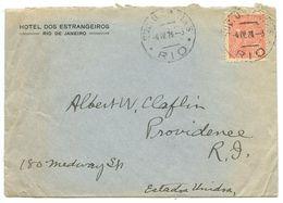 Brazil 1924 Cover Rio De Janeiro, Hotel Dos Estrangeiros To Providence RI - Brazil