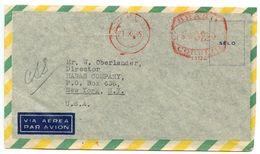 Brazil 1945 Airmail / Meter Cover São Paulo To New York, NY - Brazil