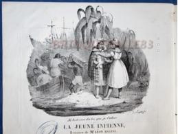CAF CONC MARINE PIANO GF PARTITION XIX CHANT LA JEUNE INDIENNE MADRAS HALEVY LEMIRE ROMAGNESI ILL BELLANGÉ 1829 - Autres