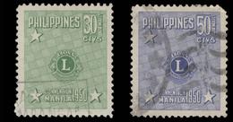 Philippines Scott #C 71-72, Set Of 2 (1950) Lions Club Type, Used - Philippines