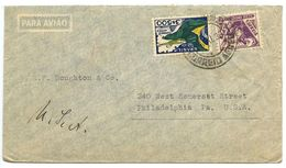 Brazil 1936 Airmail Cover To Philadelphia, Pennsylvania W/ Scott C31 Airplane & Flag - Brazil