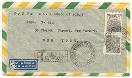 Brazil 1947 Registered Airmail Cover To New York, NY - Harem Co. - Brazil
