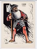 Laupen 1339, Guerrier. Don National - Croix-Rouge. H. Beutler - Cartes Géographiques